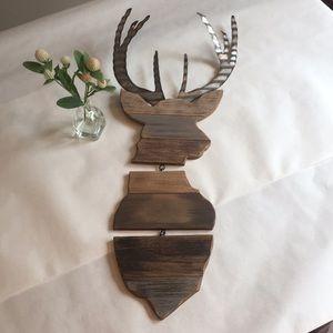 Rustic Deer/Buck wall decor wood and metal